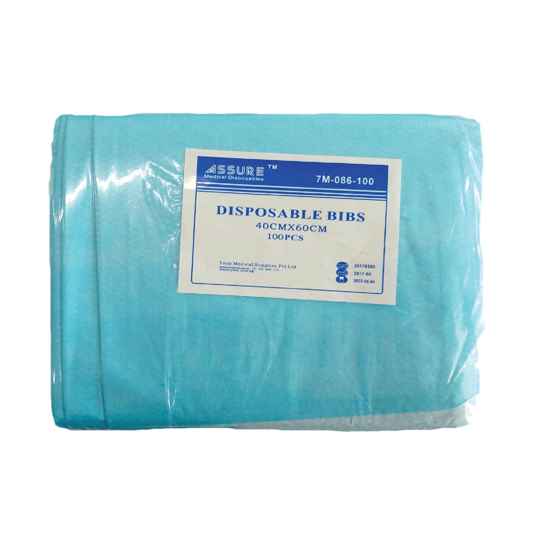 Assure Adult Bibs with Pocket (100pcs/pack)